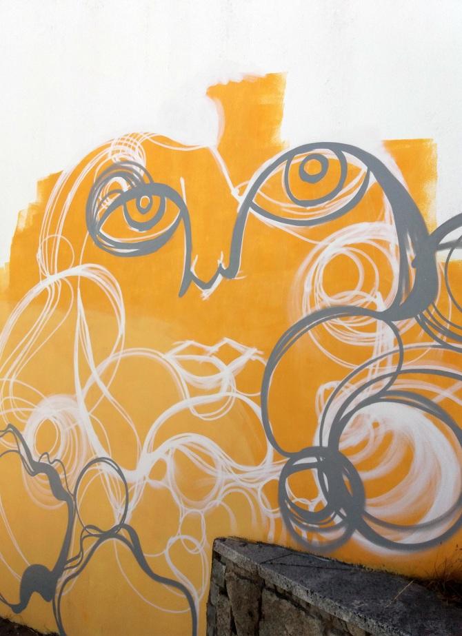 Mural in Guarda, Portugal / 2017 - Angela Monteiro & artwork